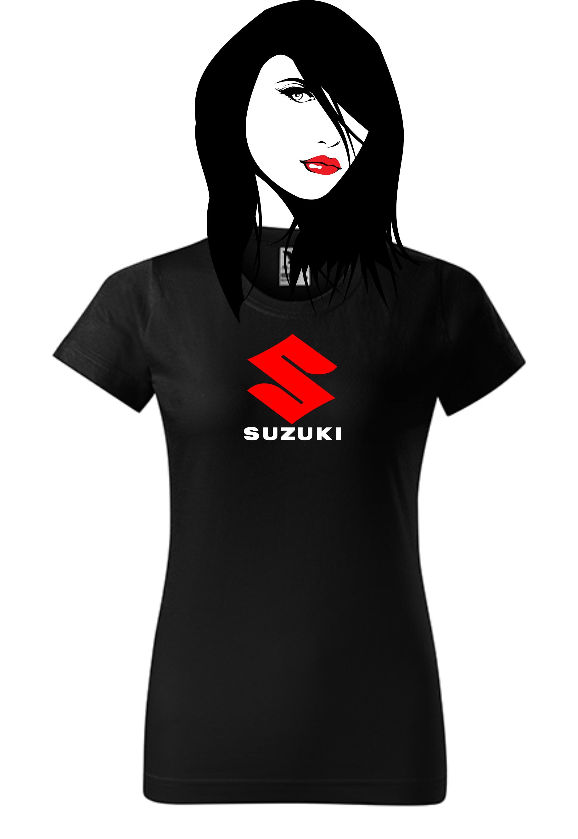 96c92d6eee2 Dámské tričko s potiskem Suzuki 1