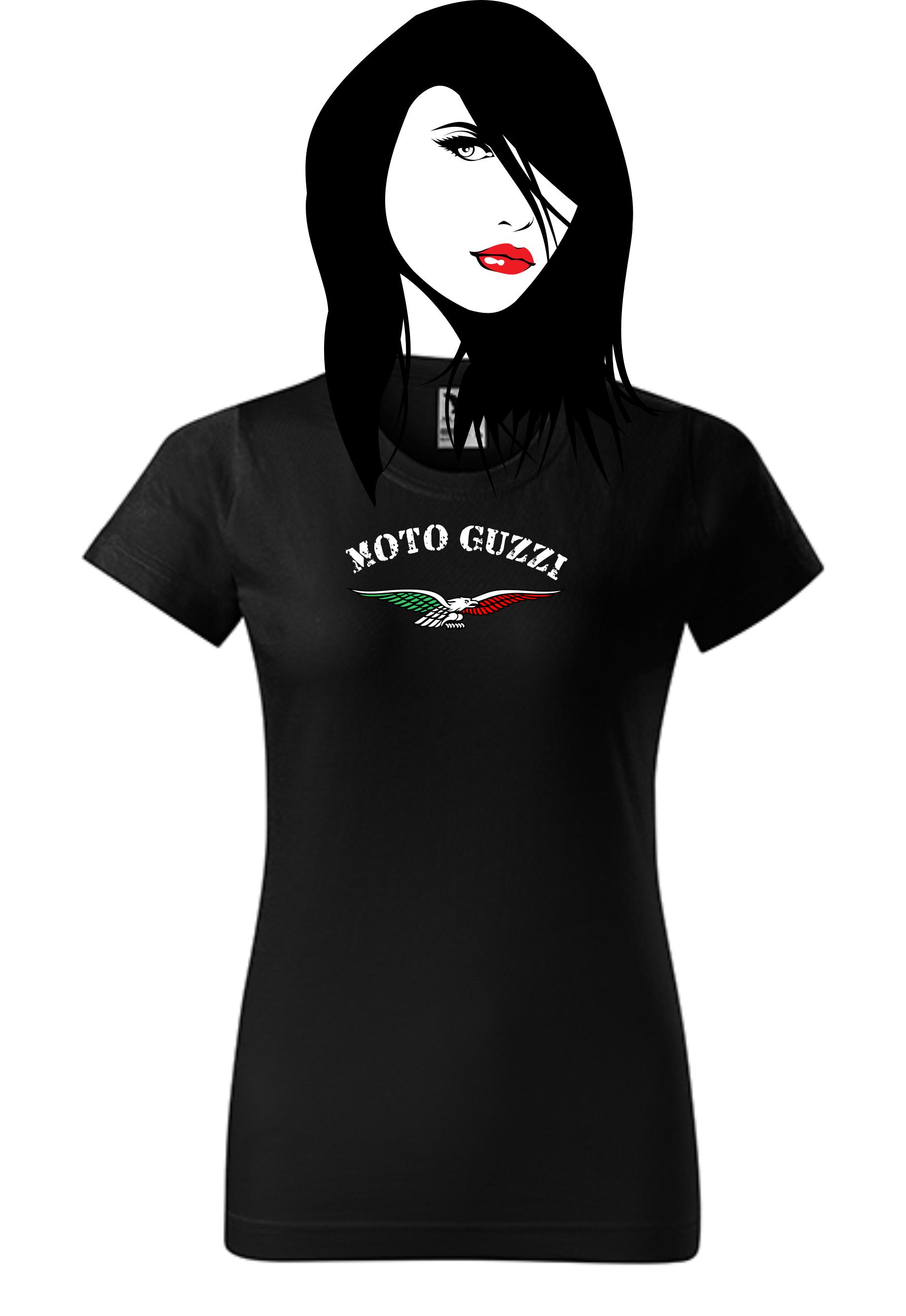 dd52cd4dbbc6 Dámské tričko s potiskem Moto Guzzi 1
